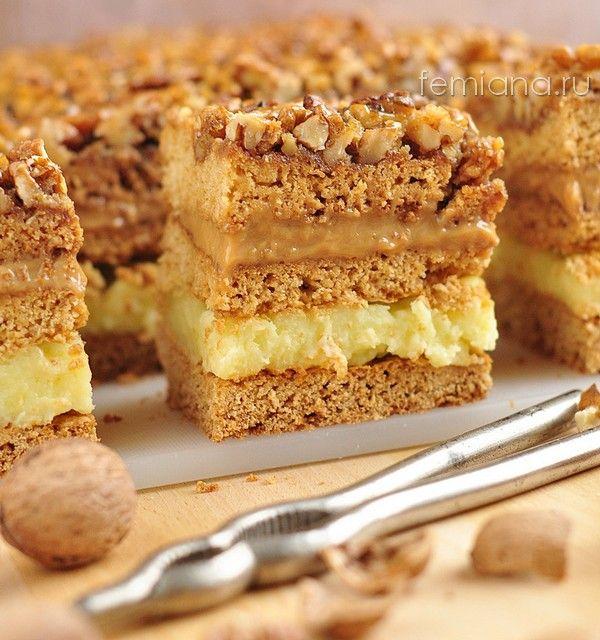 vkusnyj prostoj tort s orehami i zavarnym kremom