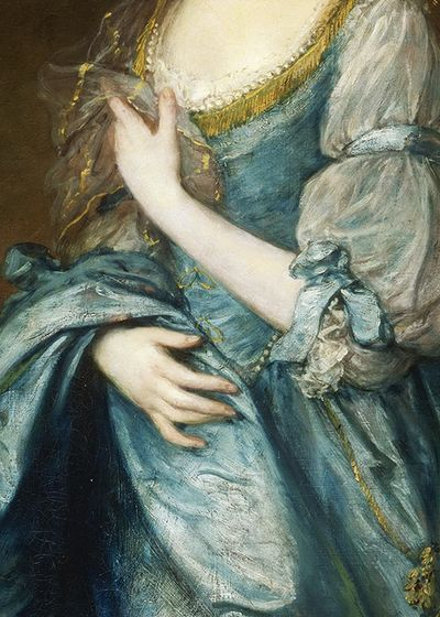 """Thomas Gainsborough (14 de mayo de 1727, Sudbury, Reino Unido- 2 de agosto de 1788, Londres, Ru): """"Portrait of Lady Rodney"""", (detail), ca. 1781. Se considera un  pintor romántico"""