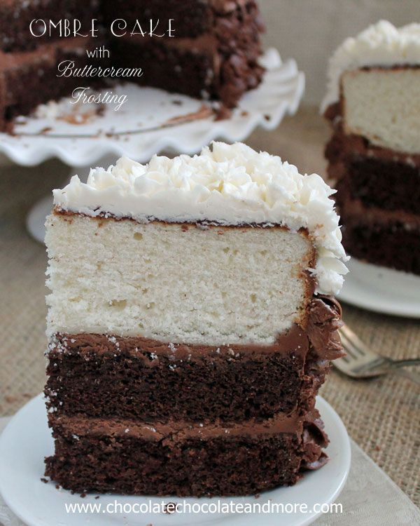Vanilla and Chocolate layers come together in this Hombre Cake with Buttercream Frosting