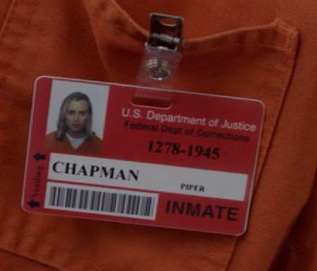 orange is the new black id card merevan pinterest