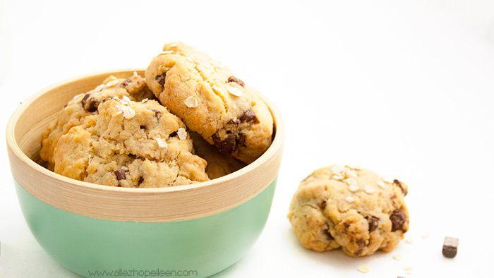 Recette cookies chunks de chocolat flocons d'avoine