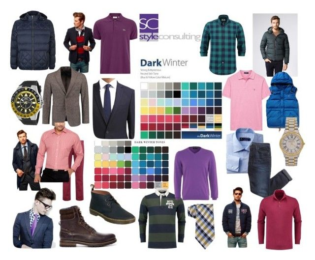 """Diepe winter, voor mannen."" by roorda on Polyvore featuring mode, Polo Ralph Lauren, BOSS Orange, Ryder, RALPH, Dunn, Lacoste, GANT, BOSS Black en Kiomi"
