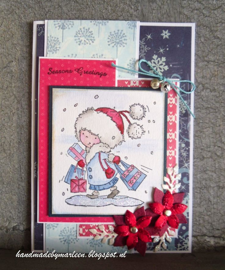 Handmade by Marleen: Daisy in Red & Blue