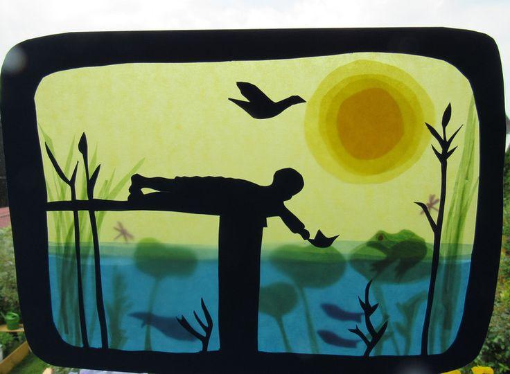 Jahreszeitentisch - Waldorf Transparentbild Sommertraum - ein Designerstück von…