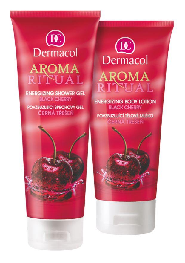 Dermacol Aroma Ritual cherry sprchový gel a pleťové mléko Kouzelná vůně višní! #DermacolCZSK #Dermacol #DermacolOfficial #Dermacol_CZ_SK #AromaRitual #cherry #showergel #bodylotion | http://www.dermacol.cz/vyhledavani/?q=aroma+ritual+cherry