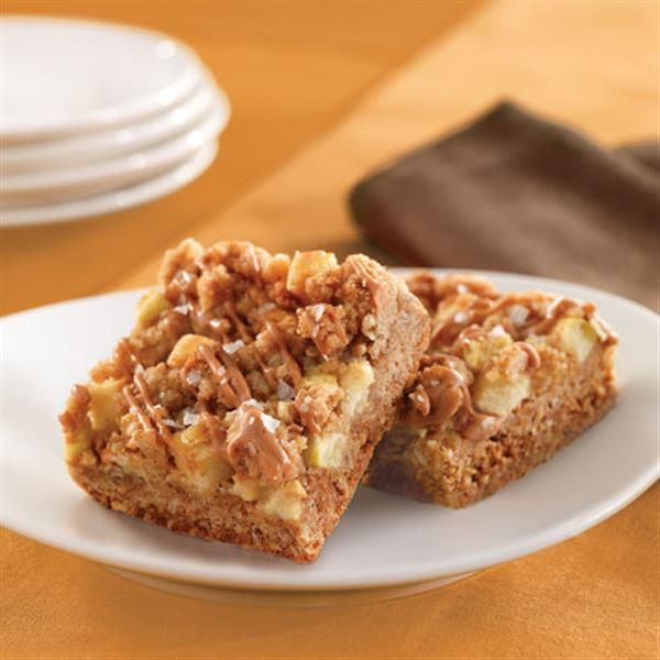The fun's in making Salted Caramel Apple Crisp Bars with family!  Available at Walmart.