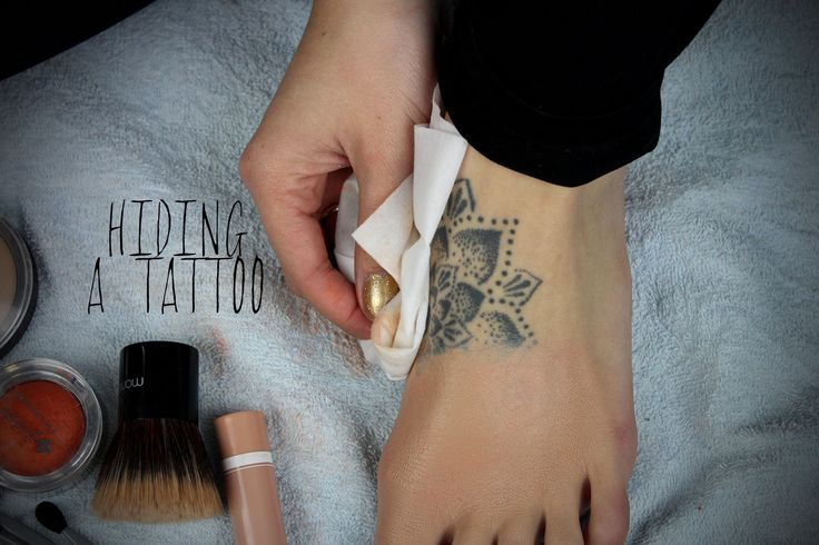 How to Cover a Tattoo Using Drugstore Makeup 1. Primer 2. Light layer foundation 3. Bright pink eyeshadow or lipstick (pat on) 4. Light hairspray 5. Repeat 3&4 6. Pat-not wipe- on concealer 7. Light hairspray 8. Repeat 6&7 as needed 9. Blend with fingers 10. Light powder #tattoo #coverup #makeup