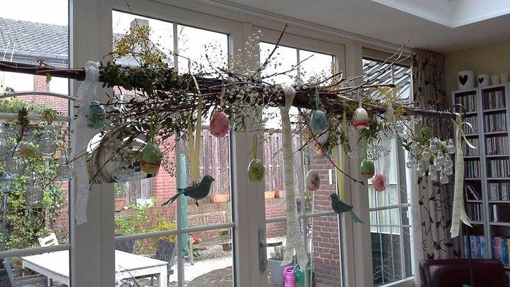 Blog Deens: Femke Crombach stuurt regelmatig foto's van haar creaties op en aan de tafelklem deco. Hier Paasinspiratie!
