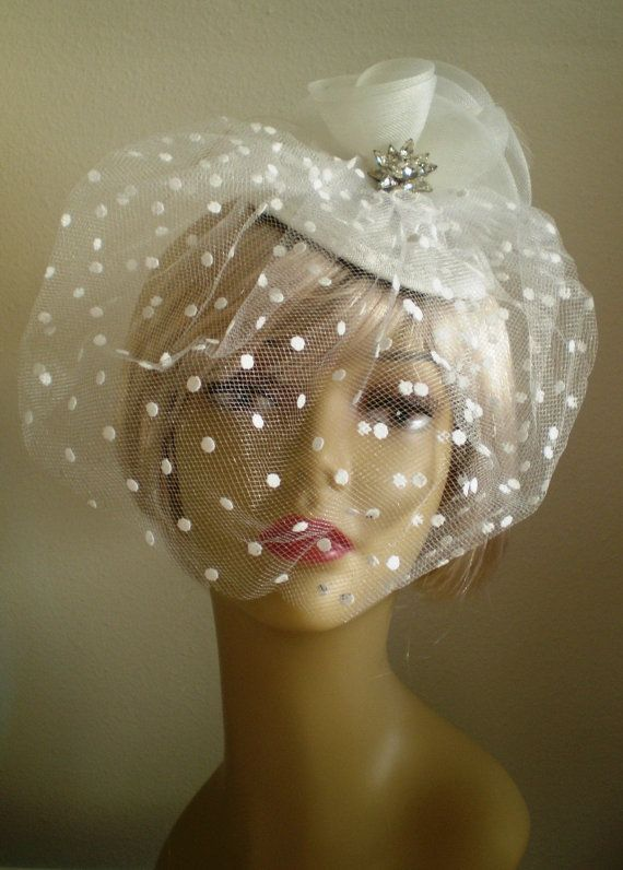 Bridal Headpiece Vintage Style Bird Cage Veil 4 by BagsnBling, $55.00