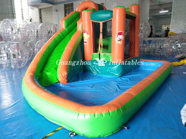 Inflatable #Floating #Water #Slides for Kids #Water #Park, Water Park with #Swimming #Pool