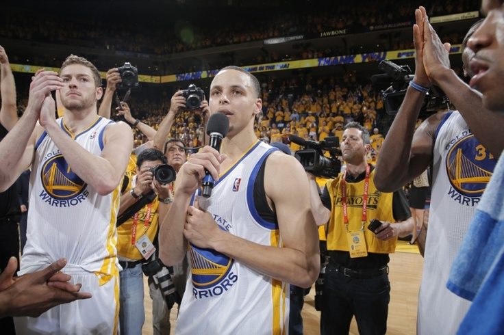 Game 6: Warriors vs. Spurs - 5/16/13 | THE OFFICIAL SITE OF THE GOLDEN STATE WARRIORS - Curry thanks the fans!