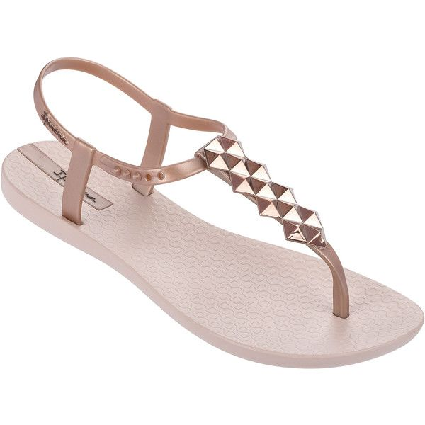 Ipanema Sandals Pink Flip Flops - Ipanema Charm Ii Sandal Pink ($32) ❤ liked on Polyvore featuring shoes, sandals, flip flops, light pink, ipanema sandals, light pink sandals, ipanema, ipanema shoes and pink shoes