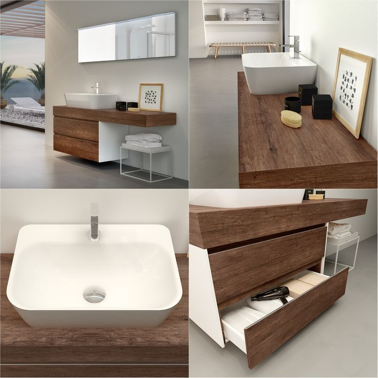 CHANGE Collection • COMPOSITION 06 - Bathroom furniture. Sherwood finish base and console. HAFRO GEROMIN » Gruppo Geromin