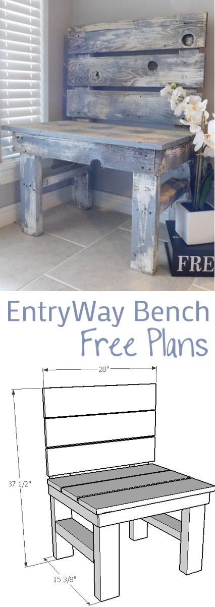 DIY Woodworking Ideas Entry Way Bench
