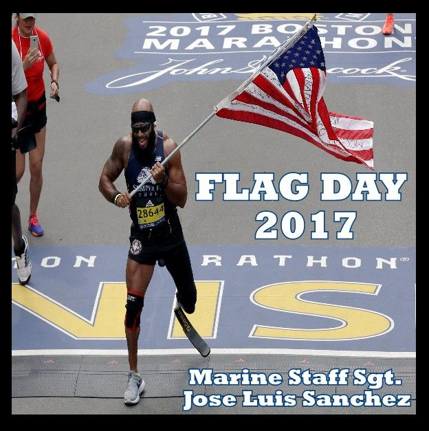 In honor of Flag Day!  http://ktla.com/2017/04/18/retired-marine-who-lost-leg-in-afghanistan-runs-boston-marathon-carrying-the-american-flag/ #inspirational#marine#bostonmarathon