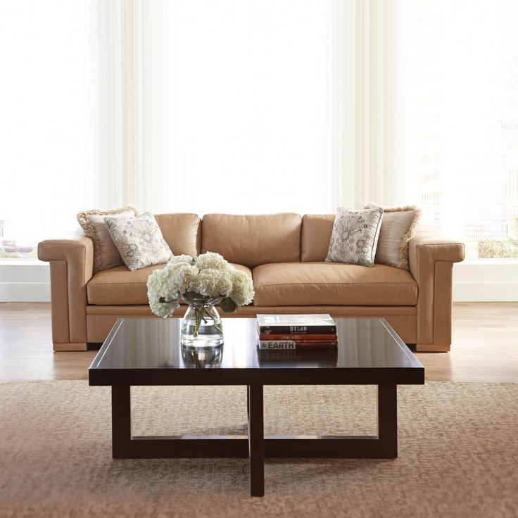 ... Stickley Furniture Leather Sofas By Stickley Carson Leather Sofa Living  Room Transitional ...
