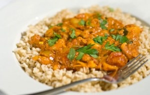 Cashew and potato Curry: Spicy!