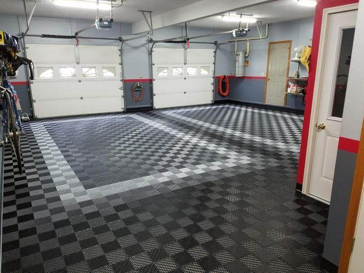 Before And After Truelock Garage Floor Tiles Epoxy