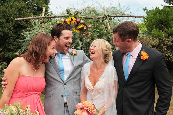 wedding group shot herons farm