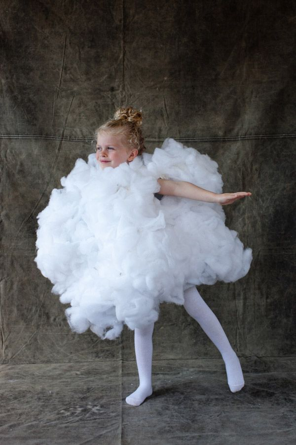 Make your own fluffy little cloud costume.