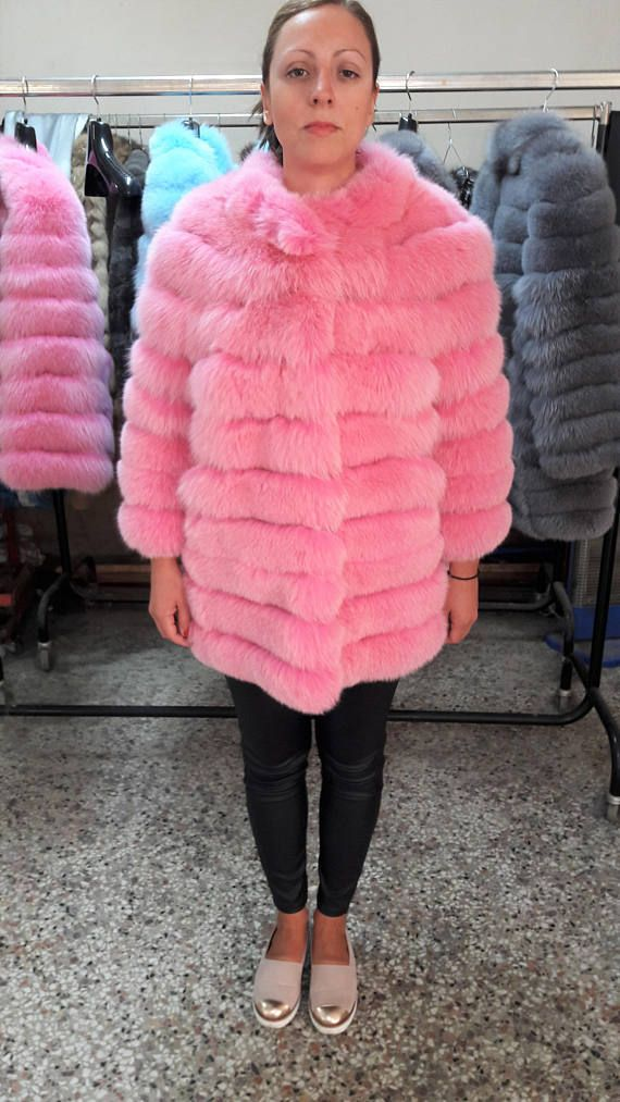 REAL PINk fOX fUR JACKET / COAT see pictures for a variety of