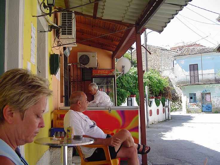 My uncles market in Valanio, Corfu. My uncle by the coca cola cooler before he died in 2010
