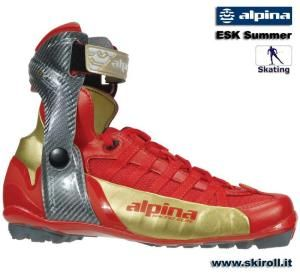 The World's best racing rollerski boots - The NEW Alpina rollerski boots are a great addition to everyones summer training. The boot combines the features of Alpina's high end TCS Skate boot, but with a highly breathable mesh fabric for ventilation. The boot is only NNN compatible.  The NEW Alpina rollerski boots are a great addition to everyones summer training. See www.skiroll.it
