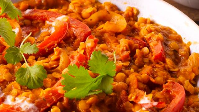 easy red lentil curry with wild rice in 2020  romantic
