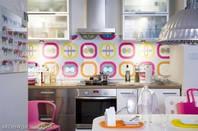Tapeta w kuchni - zabawa kolorami
