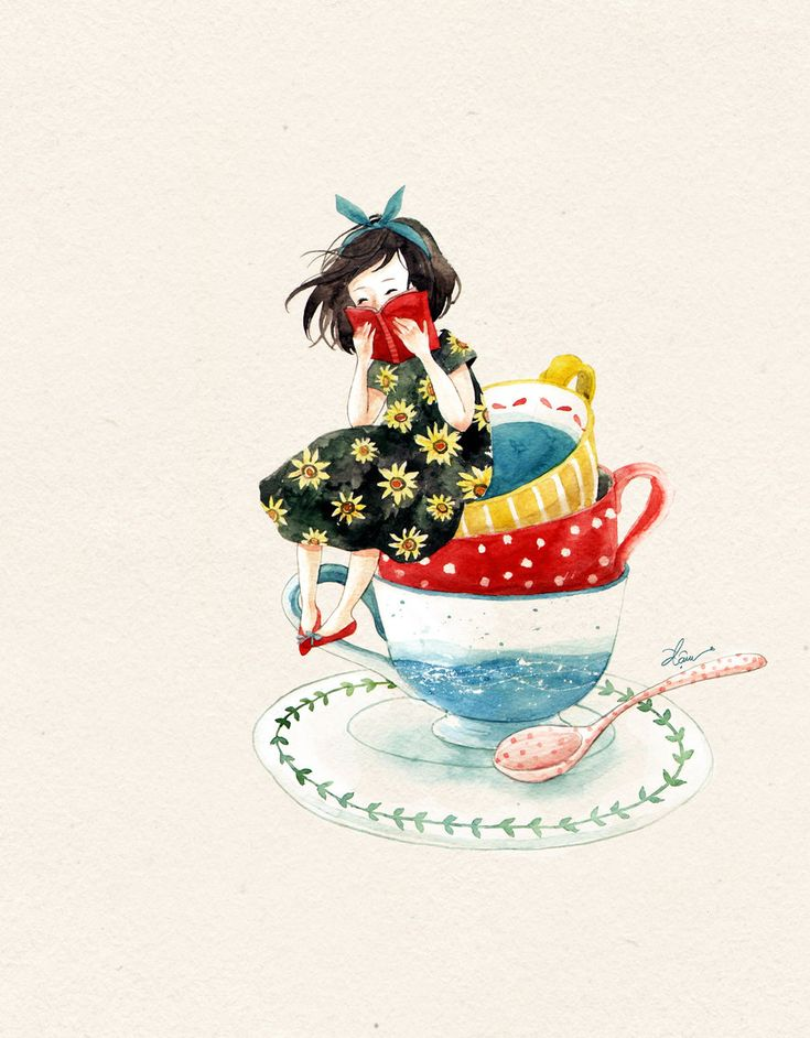 Such a great illustration of a bookworm (I was one) - found in | prettybooks