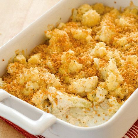 Cauliflower Gratin...skip the panko and you have the perfect low carb meal :  )