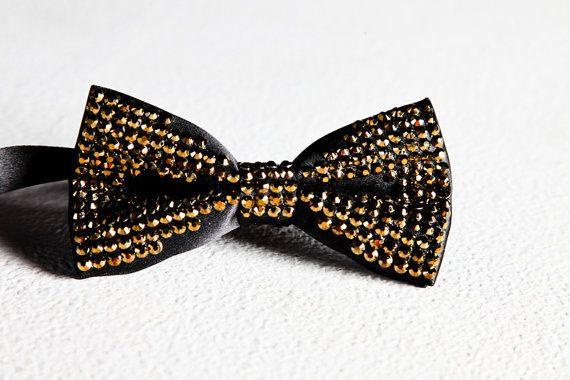 The Gentlemen Prefer Gold Bowtie: Black by HauteUnderTheCollar