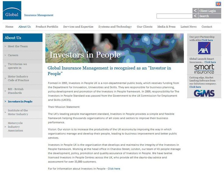 Global Insurance Management is recognised as an Investor in People