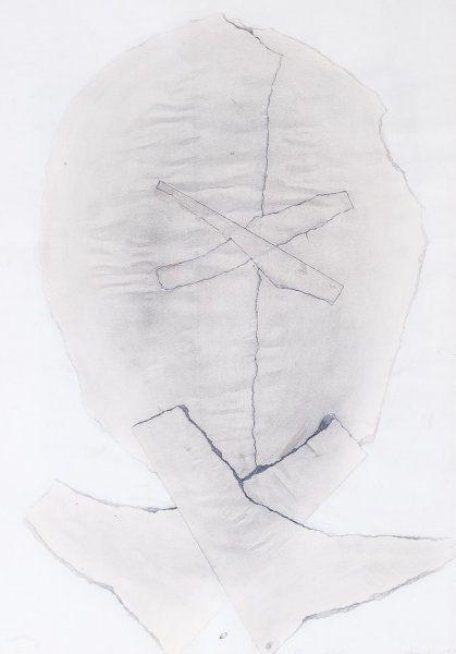 Janoušková Věra   Hlava – vrásky, 1987   Aukce obrazů, starožitností   Aukční dům Sýpka