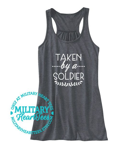 Taken by a Soldier Racerback Tank Top Army by MilitaryHeartTees