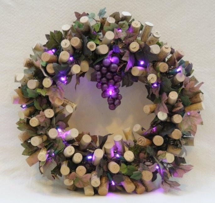 Wine cork wreaths for gifts and your home