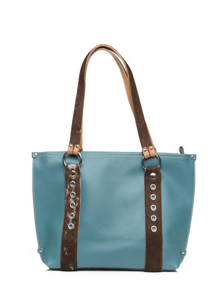 Bella Turquoise fur bag by JMB Canada