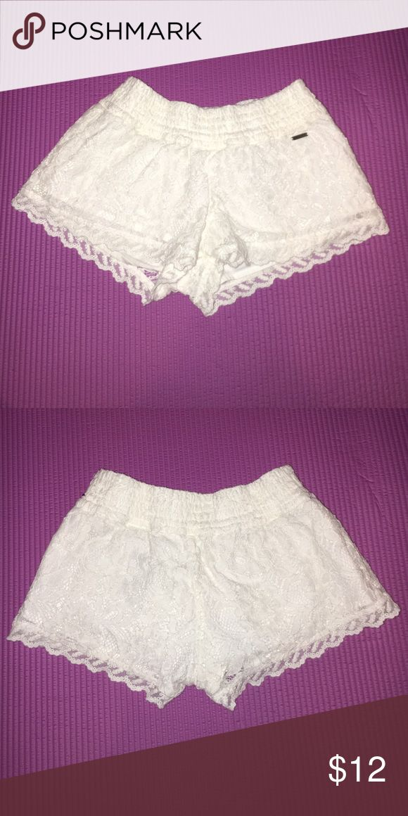 abercrombie kids lace shorts adorable cream lace shorts. banded waist. wonderful condition. Buy more and save more when you bundle! No damage or stains. Willing to bargain. Smoke & pet free home. I will take more photos upon request. (Photos taken with flash) abercrombie kids Bottoms Shorts