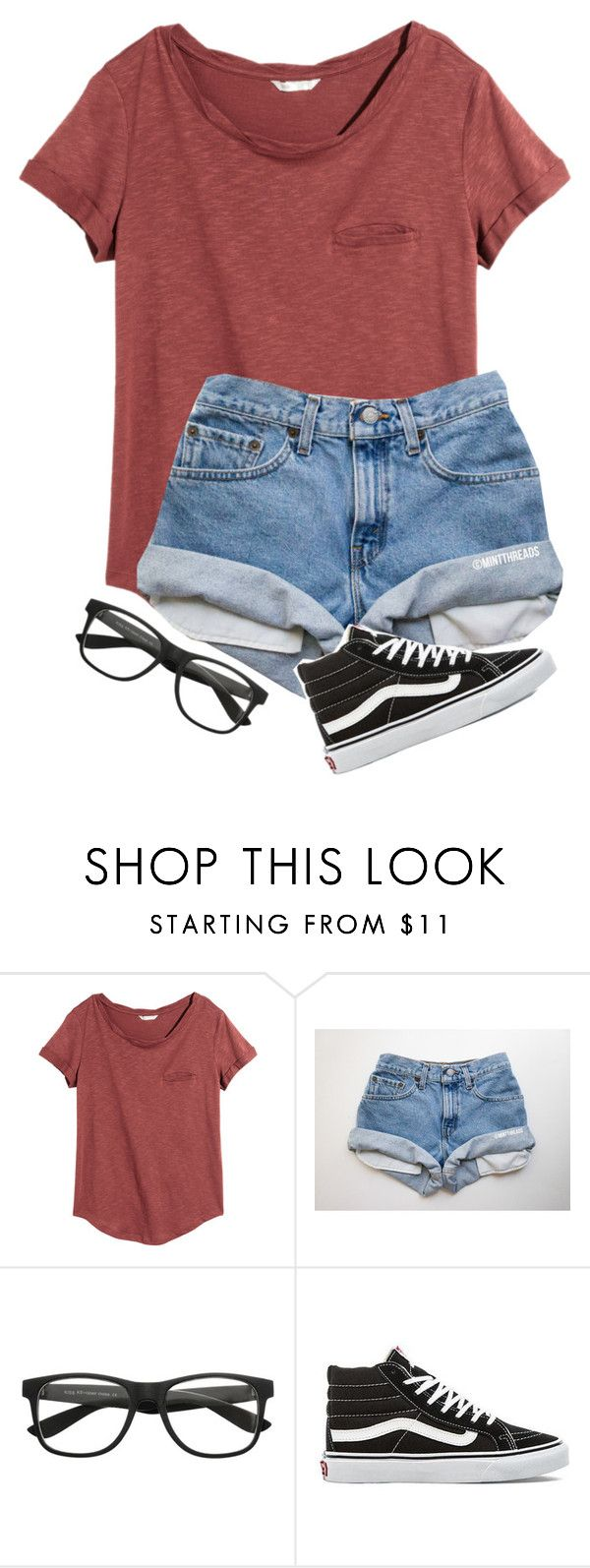 """I got new glasses today! They actually kinda look like the ones in this set "" by one-of-those-nights ❤ liked on Polyvore featuring H&M and Vans"