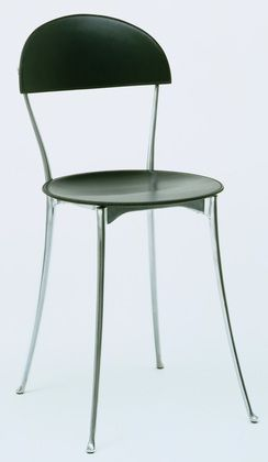 aluminum and leather Tonietta Chair by Enzo Mari