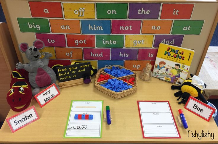 Name recognition, building and writing activity. Printable from Homeschoolcreations.