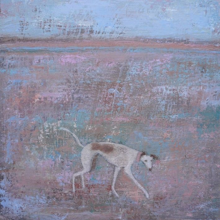 "Anna Wilson-Patterson greyhound ""Happy Dance Dog"""