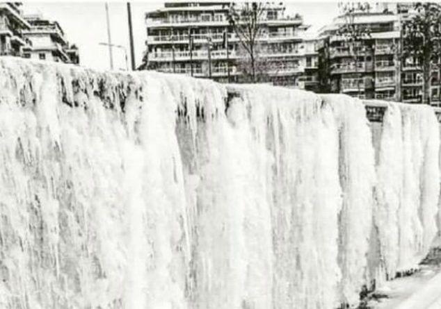 Χωρίς νερό από τον χιονιά η Θεσσαλονίκη. Πάγωσαν οι καταρράκτες της παραλίας και ο Αξιός ποταμός. Video