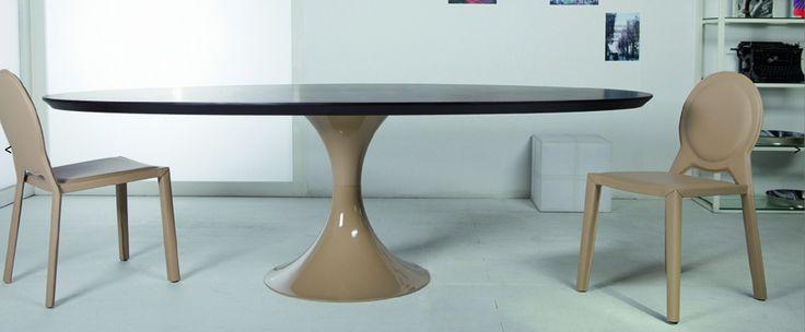 Mesa comedor scape, madera o laca