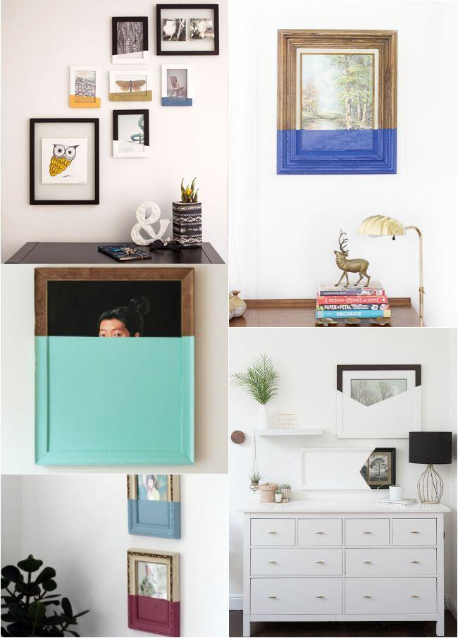 Ideas para decorar las paredes: reutiliza cuadros antiguos : via La Garbatella