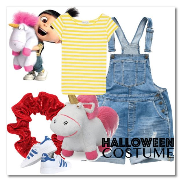 """""""Agnes Despicable Me Diy Costume"""" by gyambrek on Polyvore featuring Fat Face, WALL, adidas Originals, agnès b., halloweencostume and DIYHalloween"""