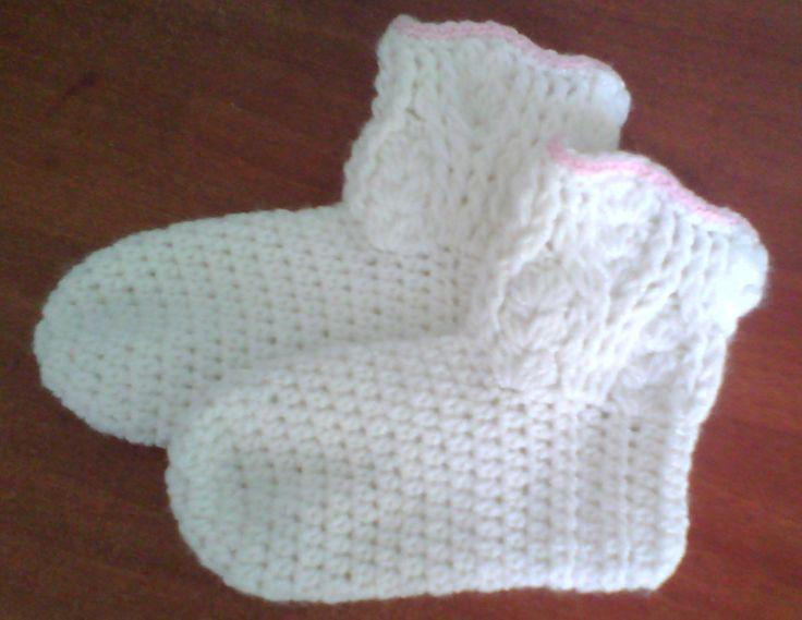 medias a crochet en lana