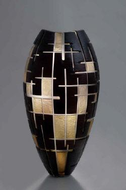 Philip Baldwin & Monica Guggisberg:  New York Labyrinth,Blown glass, wheel cut, kiln formed, hand finished