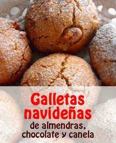 Galletas navideñas de almendras, chocolate y canela