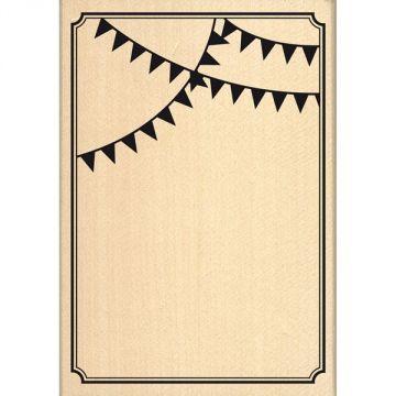 Tampon bois 'Florilèges Design' Carte Festive